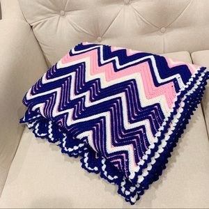 Reversible  Hand Made Crochet Winter Throw.
